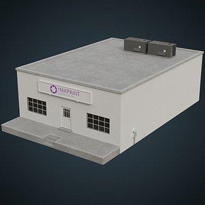 3D model industrial building 2a