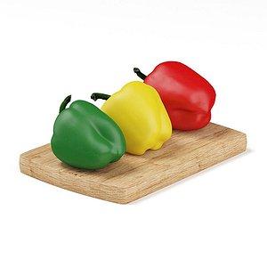 Realistic pepper 3D model