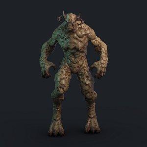 3D monster creatures character model