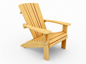 3D Adirondack chair - Low poly model