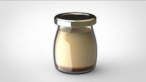 3D pudding bottle