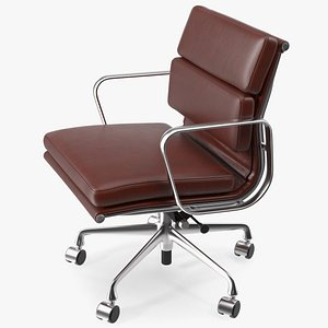 Management Chair Brown Leather 3D model