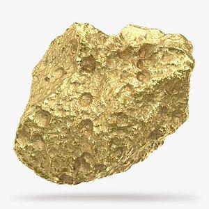 Gold Nugget 04 3D model
