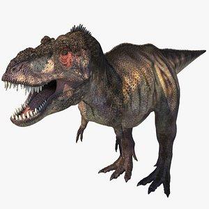 3D tyrannosaurus dinosaur rex model