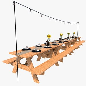 3D Party Table model