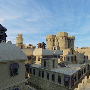 3D model arbian citadel