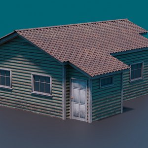 Classic american style house 1 3D