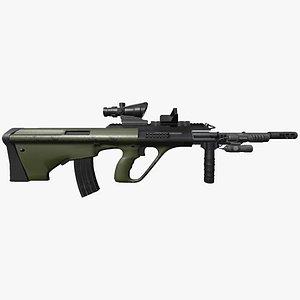 AUG    Laser    ACOG     Vert Grip model