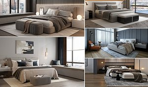 interior bed bedroom 3D model