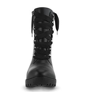 heel boot women pbr 3D model