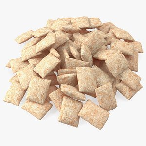 Pile of Breakfast Cereal Pads 3D model