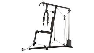 Arm Pull Gym Machine 3D model