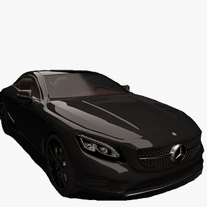 3D model mercedes-benz s class coupe
