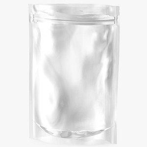 3D Transparent Plastic Bag Zipper 200 g Open