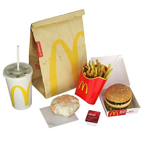 3D McDonalds Meal