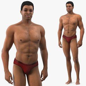 3D skin black man model