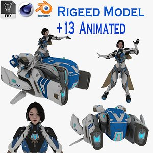 modeled animations 3D