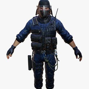 3D police model
