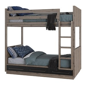 colbin storage bunk bed 3D