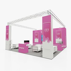 Exhibition stand 4 3D model