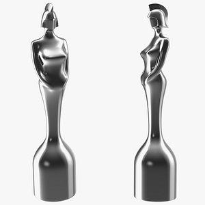 3D BRIT Award Trophy Glossy