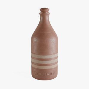 3D cartagena ceramic bottle model