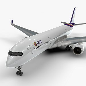 3D a350-900 thai airways l1113