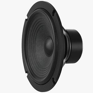 3D model speaker loudspeaker bass