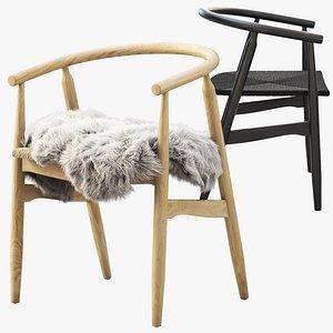 joybird rayne dining chair 3D
