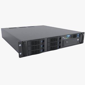server 2u 3D model