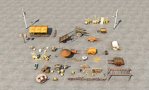 The ancient commercial street market in the ancient town of Tang Dynasty set up the scene of wooden model