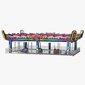 3D Bumper Cars Bertazzon Pavilion Platform