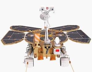 Zhurong Mars rover Tianwen 3D model