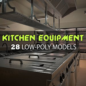 Kitchen Equipment Pack Low-poly 3D model