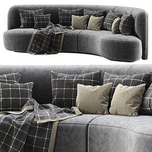 Annabel velour round sofa VS09 3D model