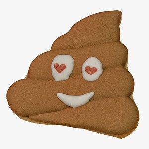 3D Poop Emoji Cookie 01 RAW Scan