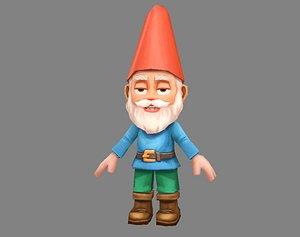 3D Cartoon Gardon Gnome - old man