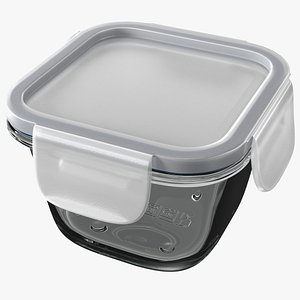 3D Glass Clip Lock Food Storage Container 180ml
