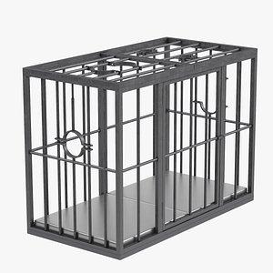 BDSM Slave Cage 3D
