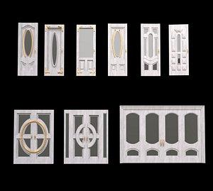 Wood Door Collections 3D model