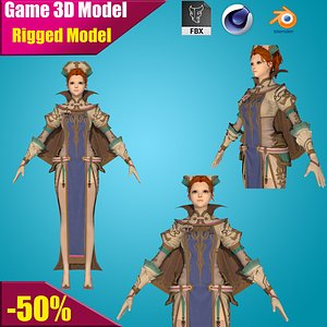 3D model girl woman character