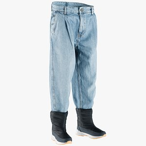 3D boots jeans