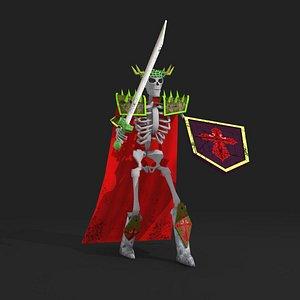rigged skeleton fighter 3D