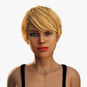female facial shapes 3D