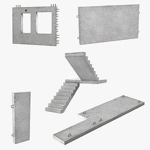 precast concrete panels 2 3D model
