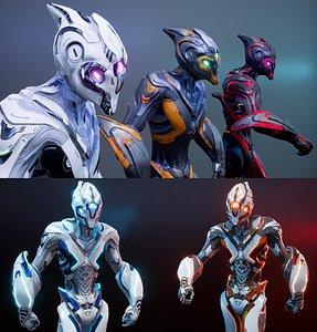 3D Sci-Fi  Biotech Necron