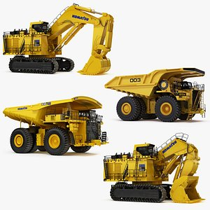 Collection Heavy Mining Machines 3D model