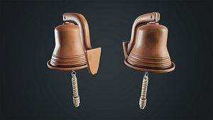 3D Stylized Ship's Bell model