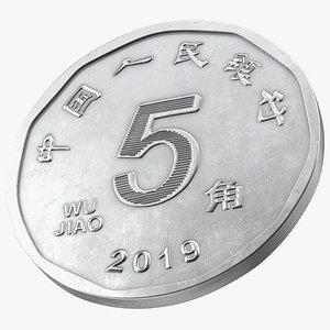 3D Wu Jiao Coin model