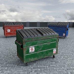3D dumpster garbage